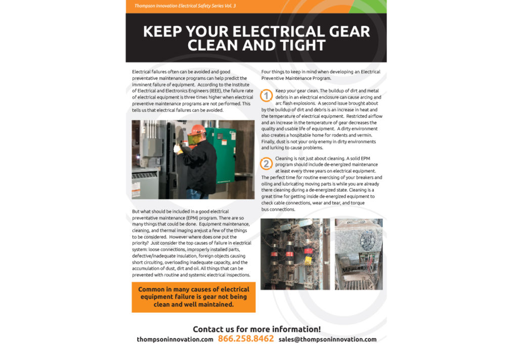 Keep Your Electrical Gear Clean and Tight | Thompson Innovation