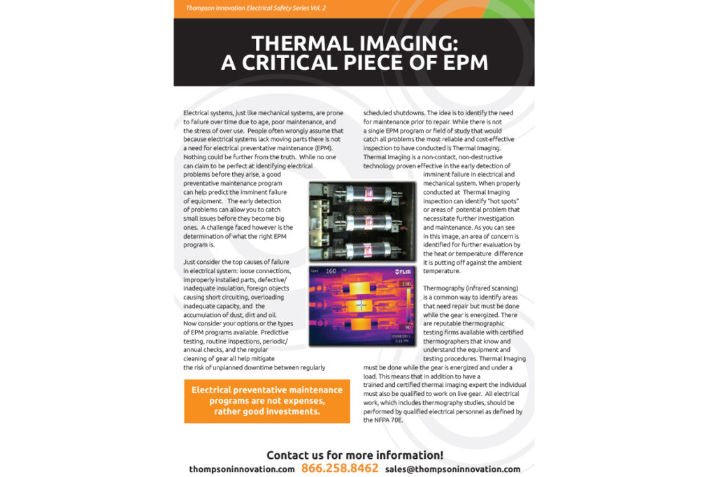 Thermal Imaging: A Critical Piece of EPM | Thompson Innovation