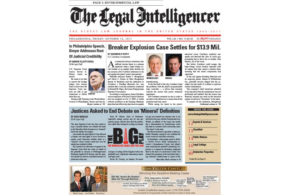Breaker Explosion Case Settles for $13 9 Million | Thompson