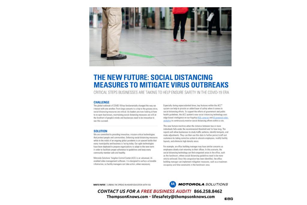 Thompson Digital Social Distancing Measures